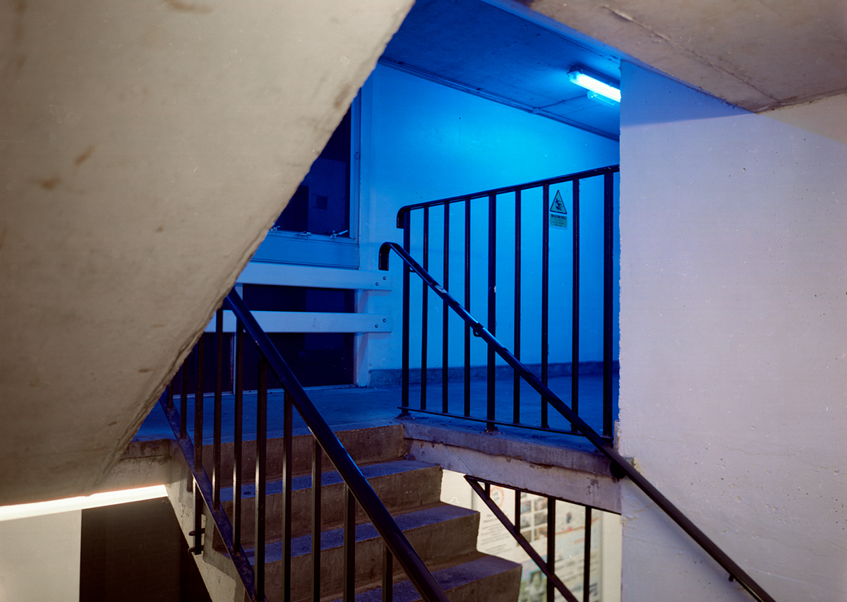 David Blackmore: Level 1 stairwell, King's place car park, Brighton, UK from Detox, 2004